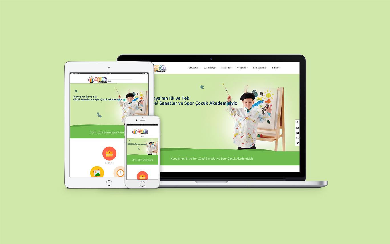 Aşkan Anaokulu Web Tasarım Çalışması