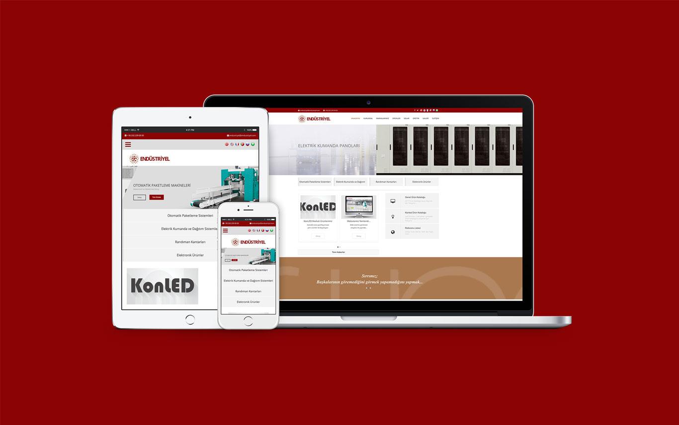 Endüstriyel Elektrik Web Tasarım Çalışması