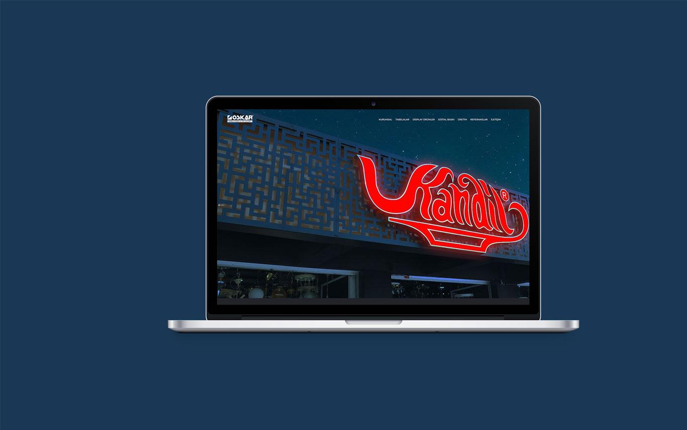 Oskar Reklam Web Tasarım Çalışması