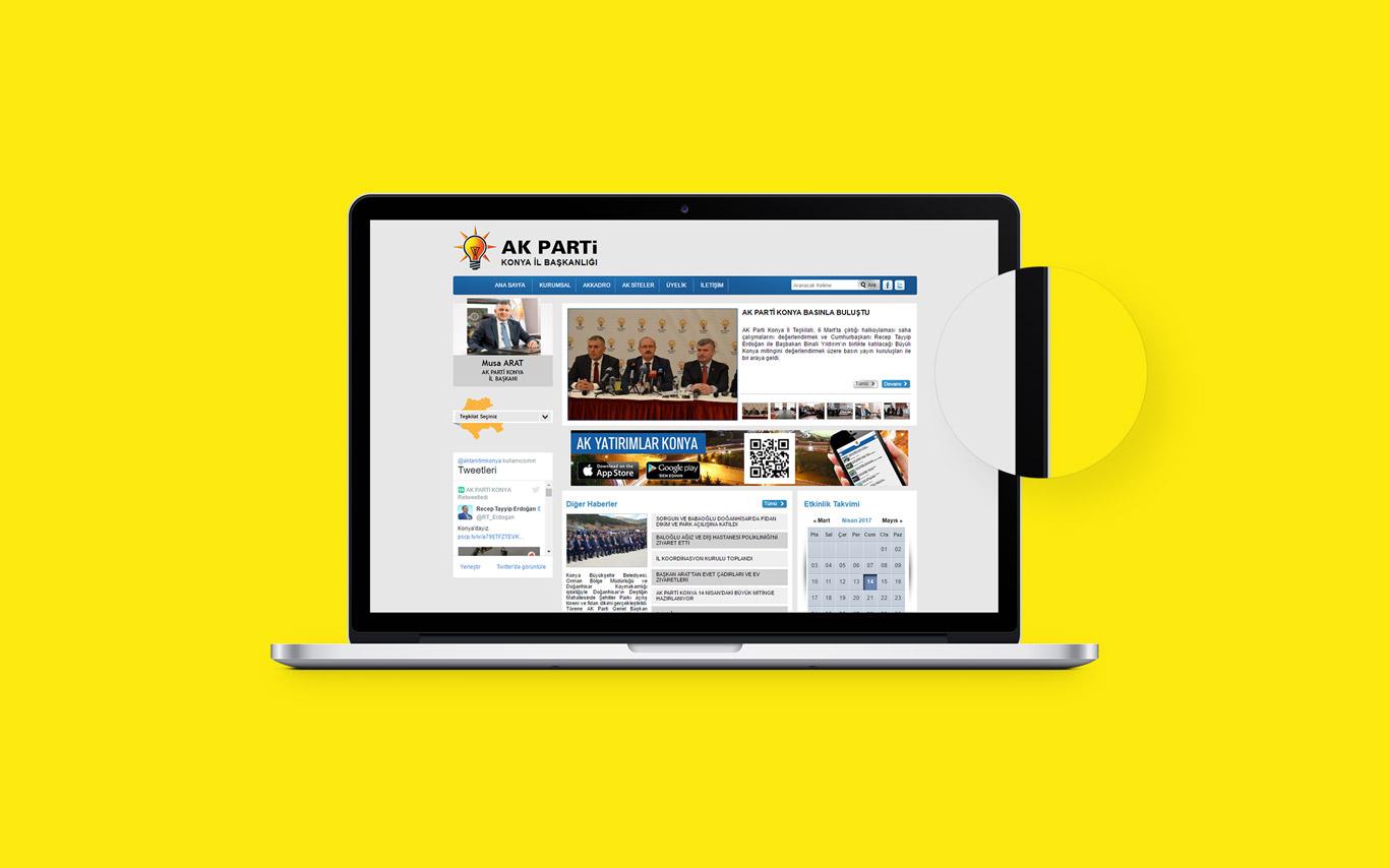 Ak Parti Konya Web Tasarım Çalışması