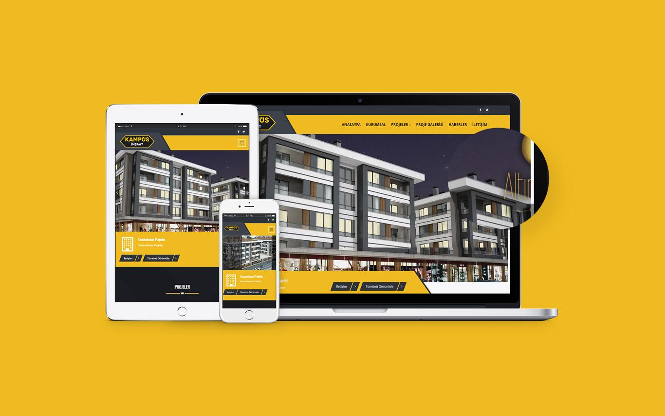 Kampüs İnşaat Web Tasarım Çalışması